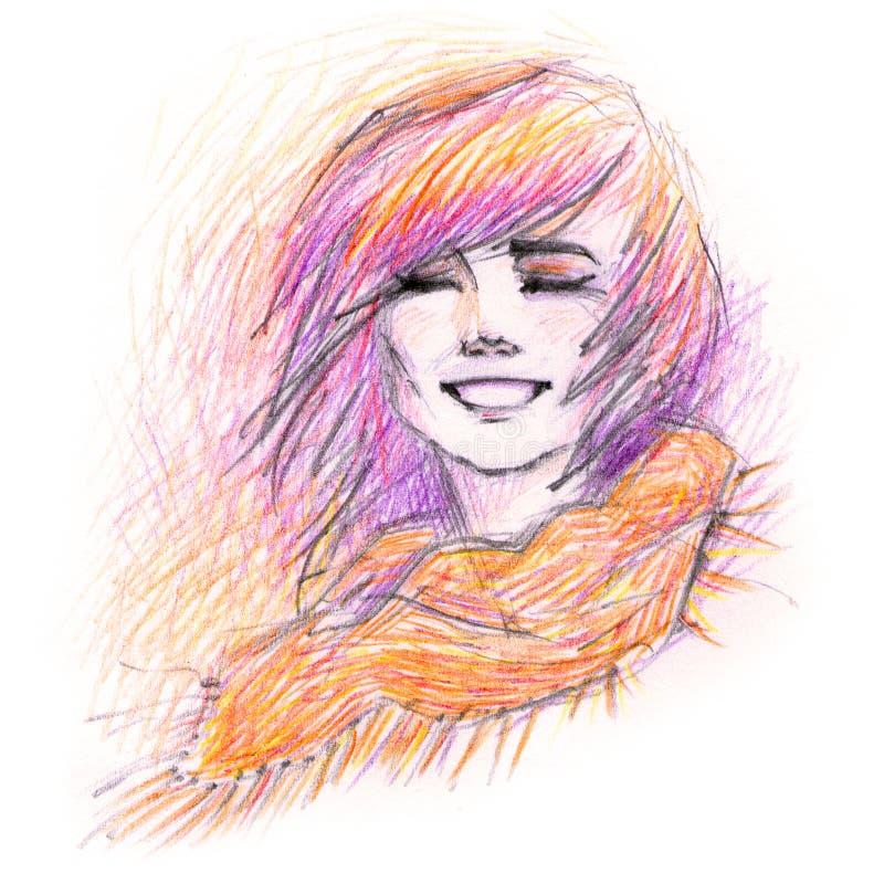 Download Glückliches Mädchen stock abbildung. Illustration von ausdruck - 27727669
