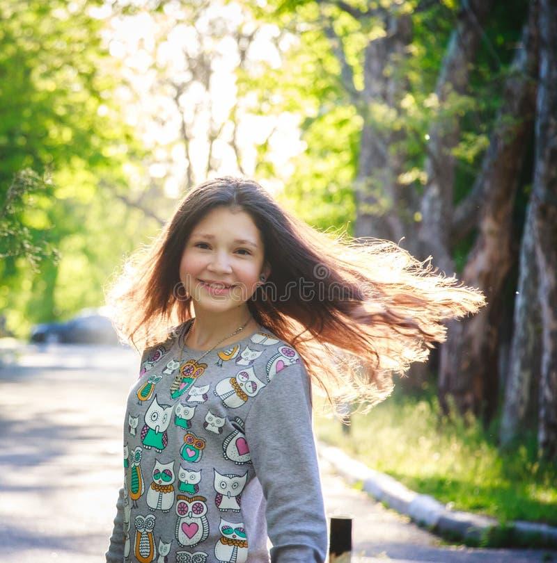 Glückliches Mädchen 2017 stockfotos