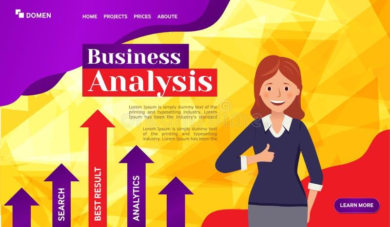 Glückliches Mädchen zeigt Daumen oben auf orange Hintergrund Webseitendesignschablonen vektor abbildung