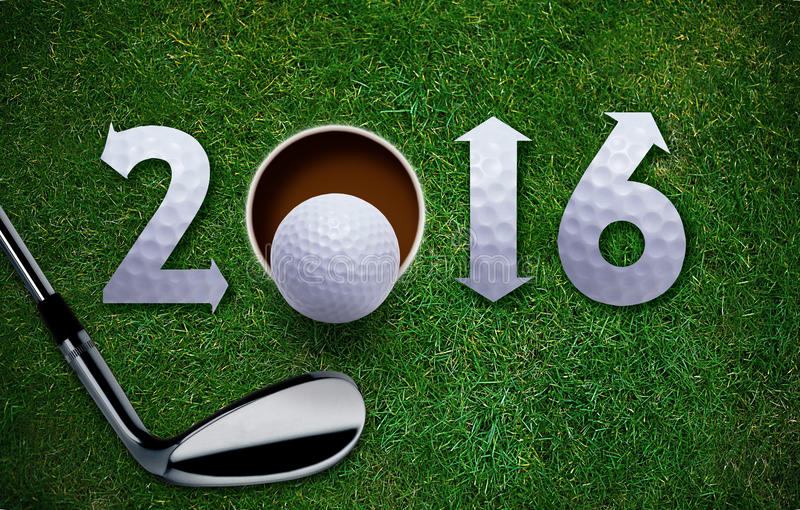Glückliches neues Golfjahr stockfoto