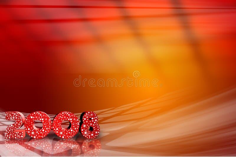 Glückliches neues Jahr, 2008 vektor abbildung
