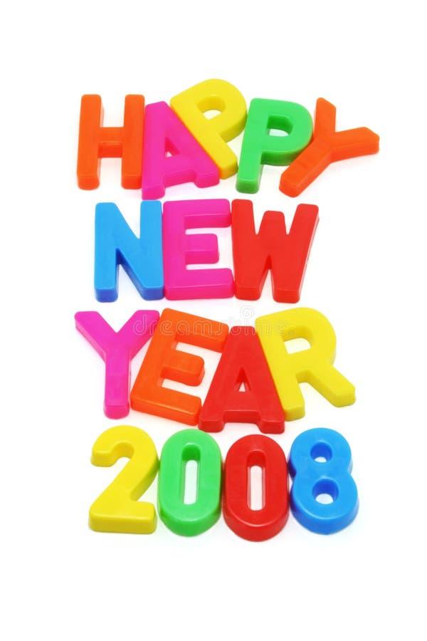 Glückliches neues Jahr 2008 lizenzfreies stockbild