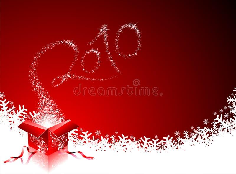 Glückliches neues Jahr 2010 lizenzfreie abbildung