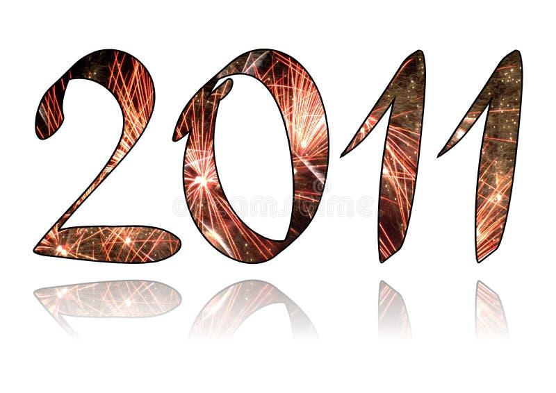 Glückliches neues Jahr 2011 stock abbildung