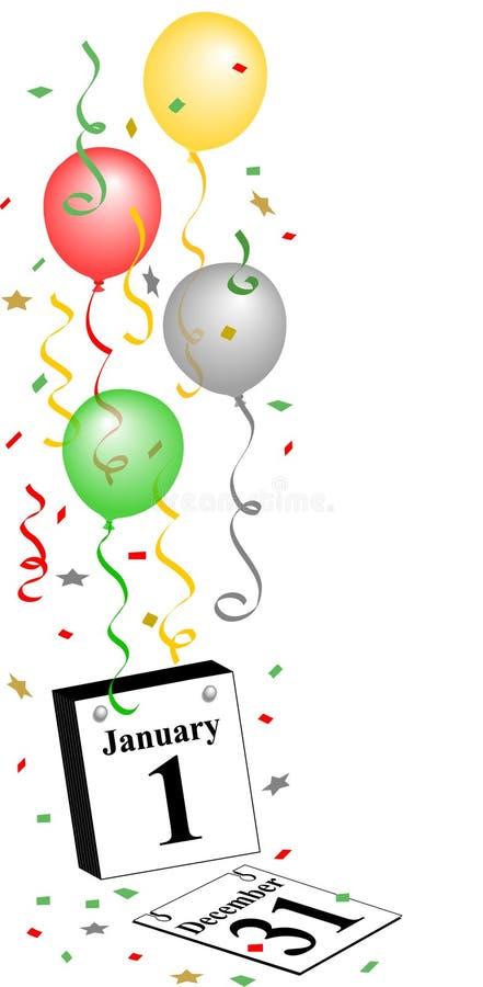 Glückliches neues Jahr-Kalender lizenzfreie abbildung
