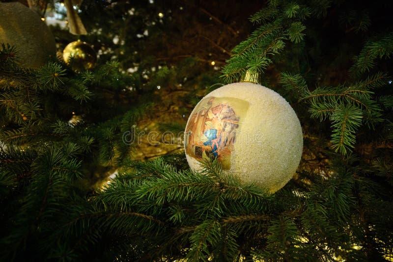 Glückliches neues Jahr und frohe Weihnachten stockfoto