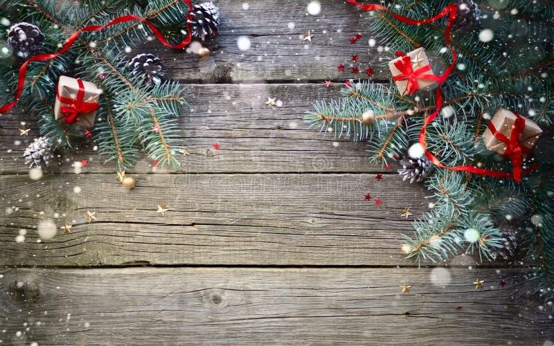 Weihnachten Hintergrund.Glückliches Neues Jahr Und Frohe Weihnachten Hintergrund Stockfoto