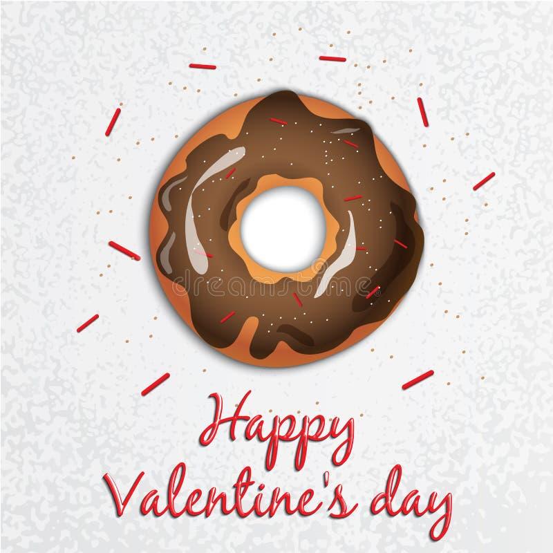 glückliches neues Jahr 2007 Valentinsgruß `s Tag Reihe mit Bonbons krapfen stock abbildung