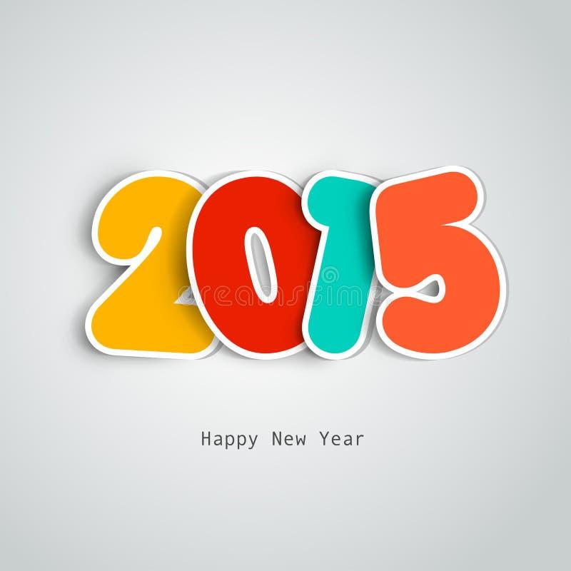 2015 Glückliches Newyear lizenzfreie abbildung