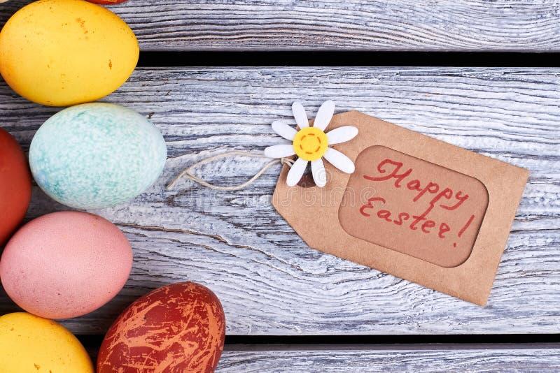 Glückliches Ostern-Tag und -eier lizenzfreie stockfotos