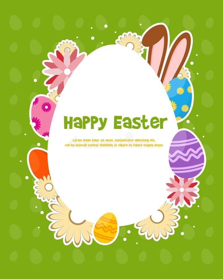 Glückliches Ostern-Tagesfeierplakat lizenzfreie abbildung