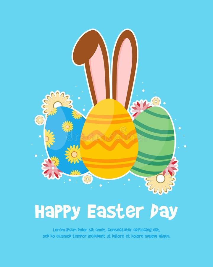 Glückliches Ostern-Tagesfeierplakat stock abbildung