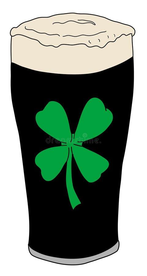 Glückliches Pint Bier lizenzfreie abbildung