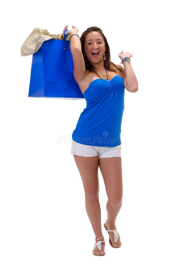 Glückliches shoppper stockfotografie