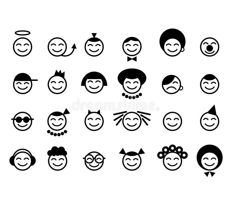Glückliches smileygesicht stock abbildung
