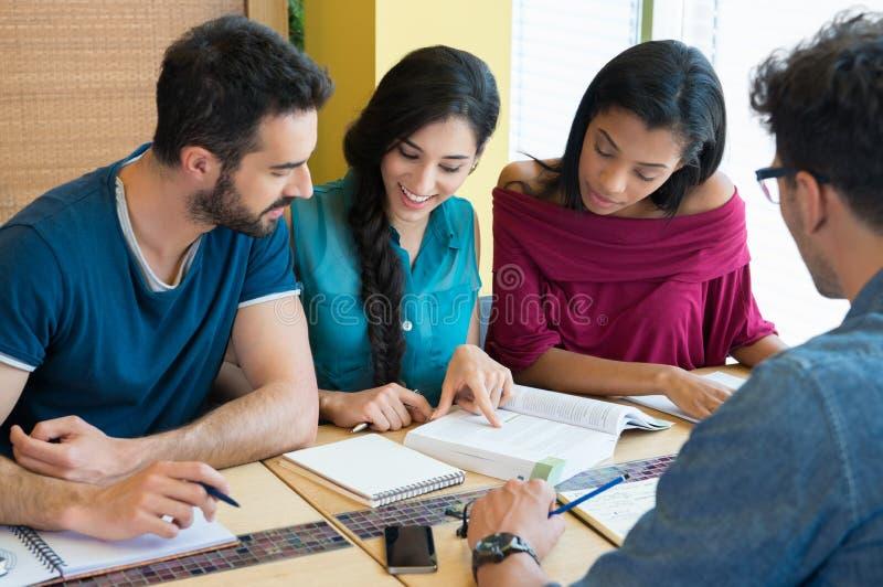 Glückliches Studentenstudieren lizenzfreie stockbilder