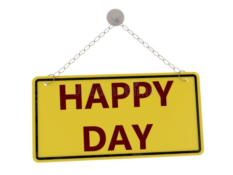 Glückliches Tageszeichen stock abbildung
