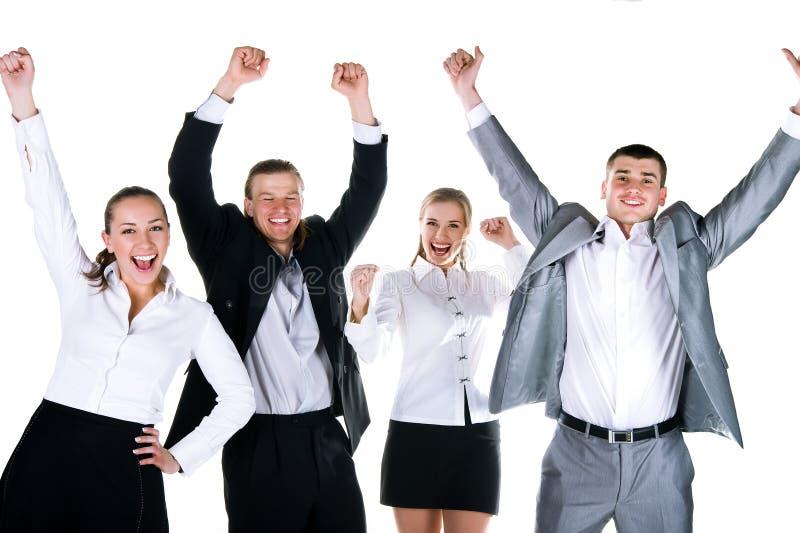 Glückliches Team stockfotografie