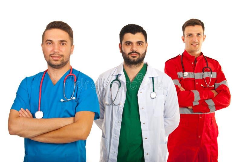 Glückliches Team von Doktoren stockfotografie