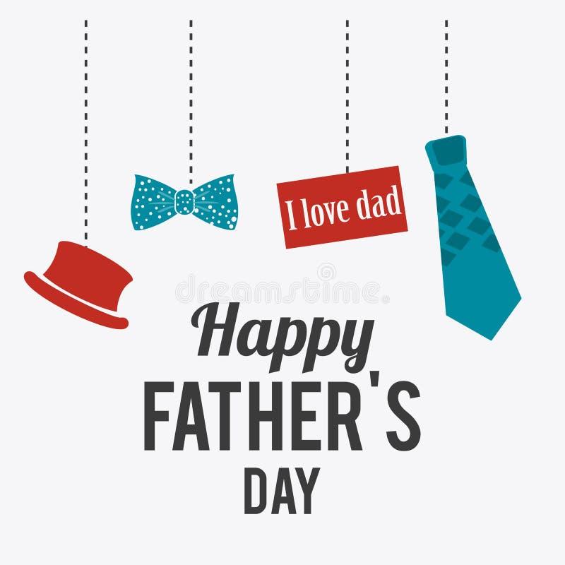 Glückliches Vatertags-Kartendesign stock abbildung