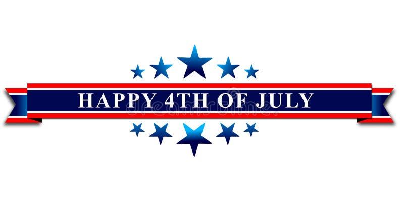 Glückliches 4. von Unabhängigkeitstag Julis USA lizenzfreie abbildung