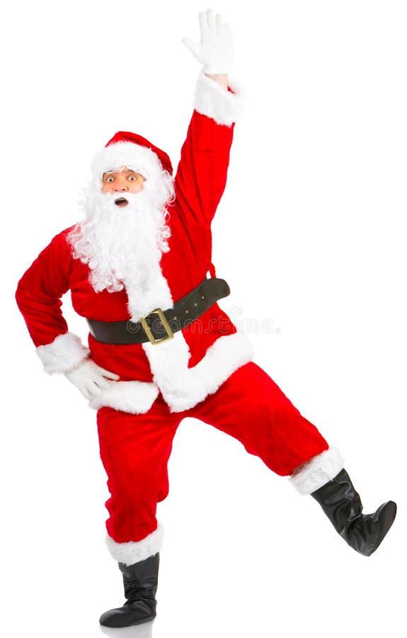 Glückliches Weihnachten Sankt stockbild