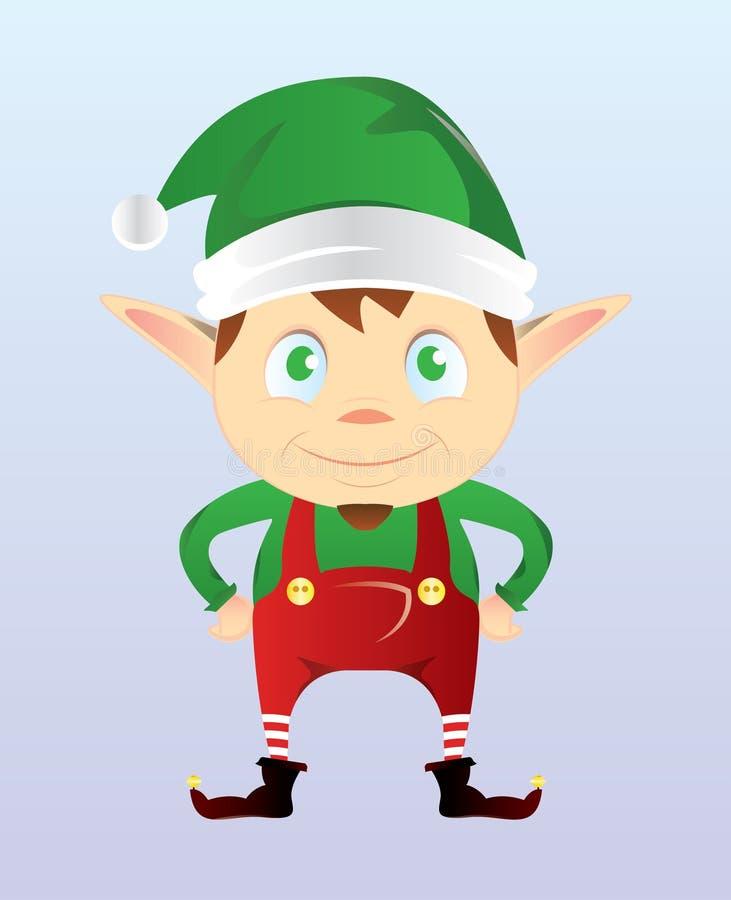 Glückliches Weihnachtself lizenzfreies stockfoto