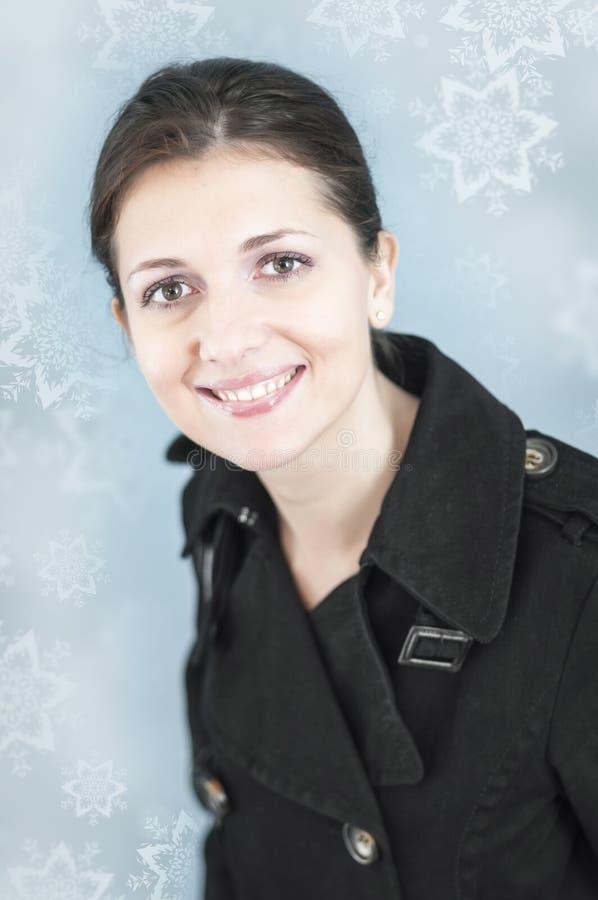 Glückliches Wintergesicht lizenzfreie stockbilder