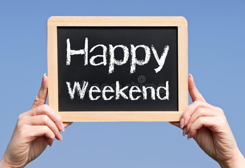 Glückliches Wochenende lizenzfreies stockbild