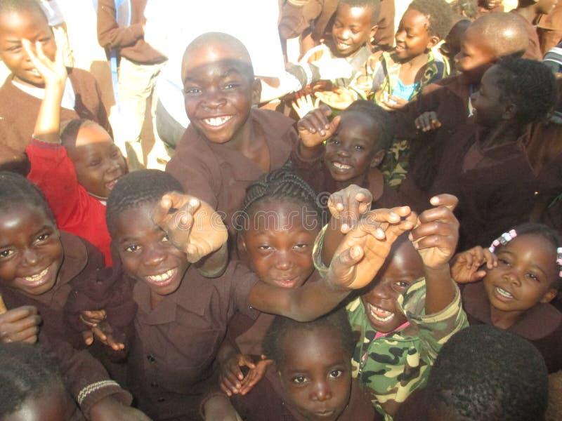 Glückliches Zambians lizenzfreie stockfotos