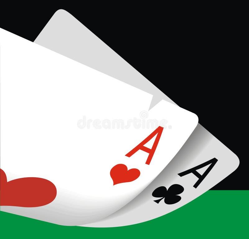 Glücksspielhintergrund lizenzfreie abbildung
