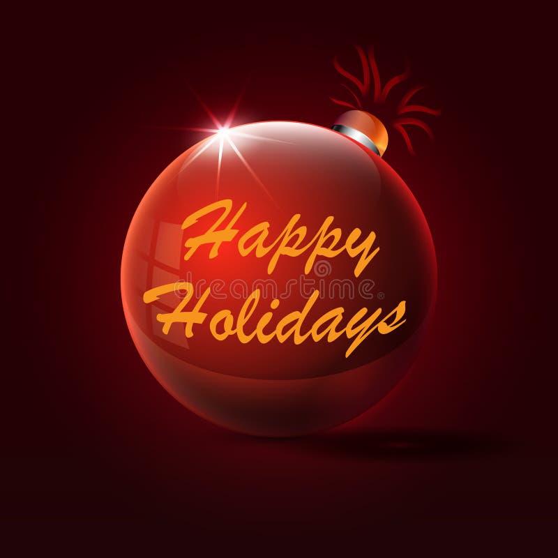 Glückwünsche an den Feiertagen am Weihnachtsspielzeug vektor abbildung