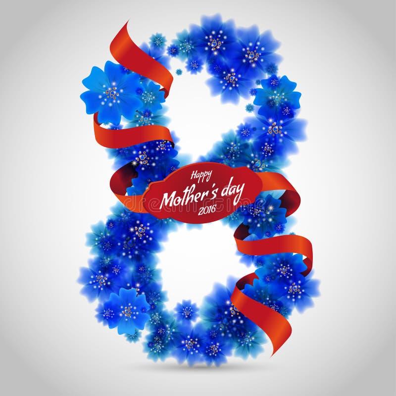 Glückwünsche gestalten zum Mutter-Tag 8. Mai 2016 lizenzfreie abbildung
