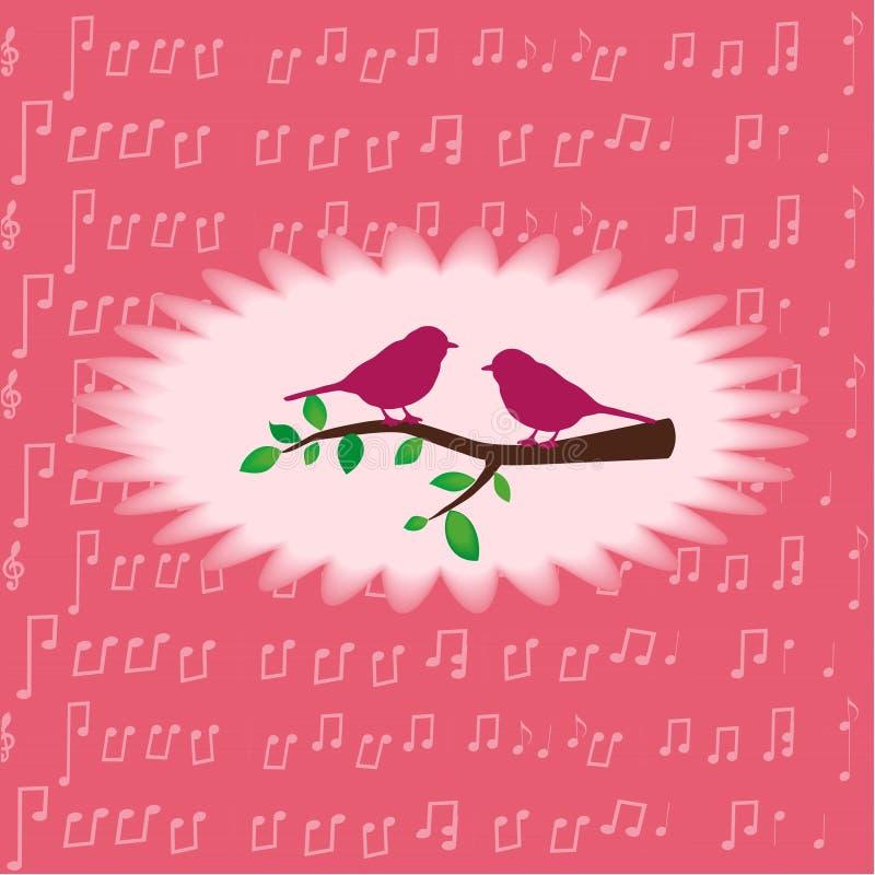 Glückwunsch auf dem Lied stock abbildung