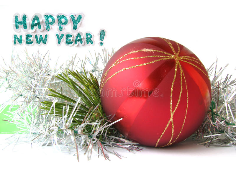 Glückwunschkarte des neuen Jahres lizenzfreies stockfoto
