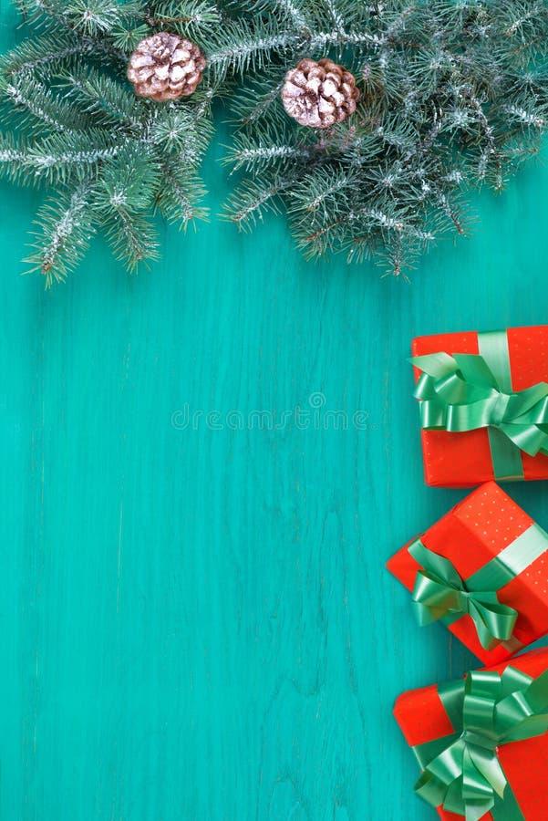 Glückwunschkarte frohe Weihnachten und neues Jahr stockfoto