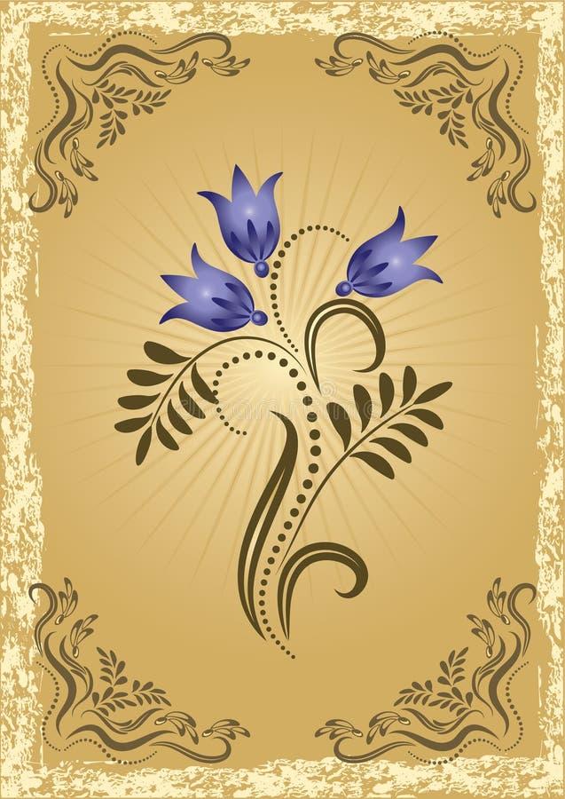 Glückwunschkarte mit Wiesenblumen vektor abbildung