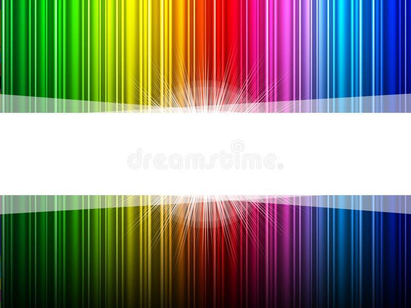Glühen Copyspace zeigt helle Explosion und Farbe an lizenzfreie abbildung