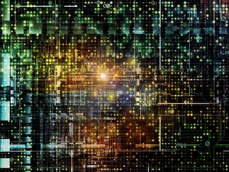 Glühen des Netzes stockfotos