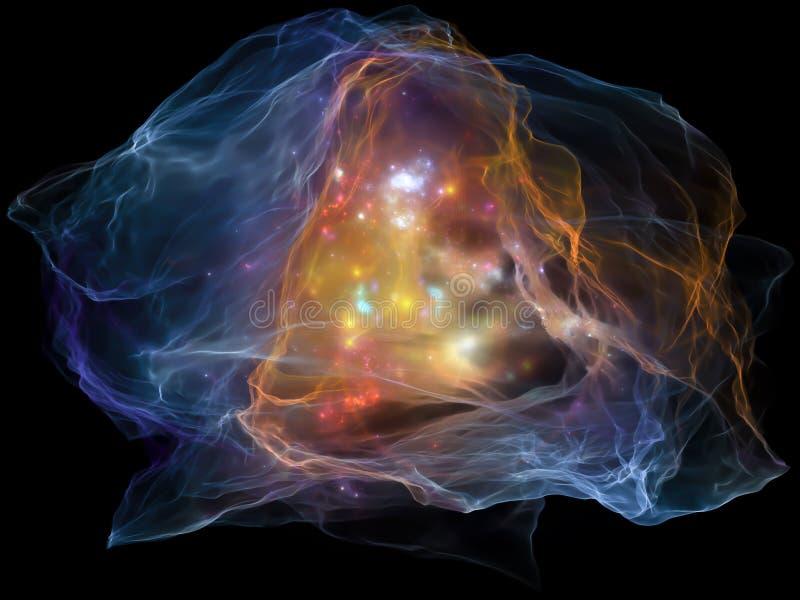Glühen des Sinnespartikels lizenzfreie abbildung