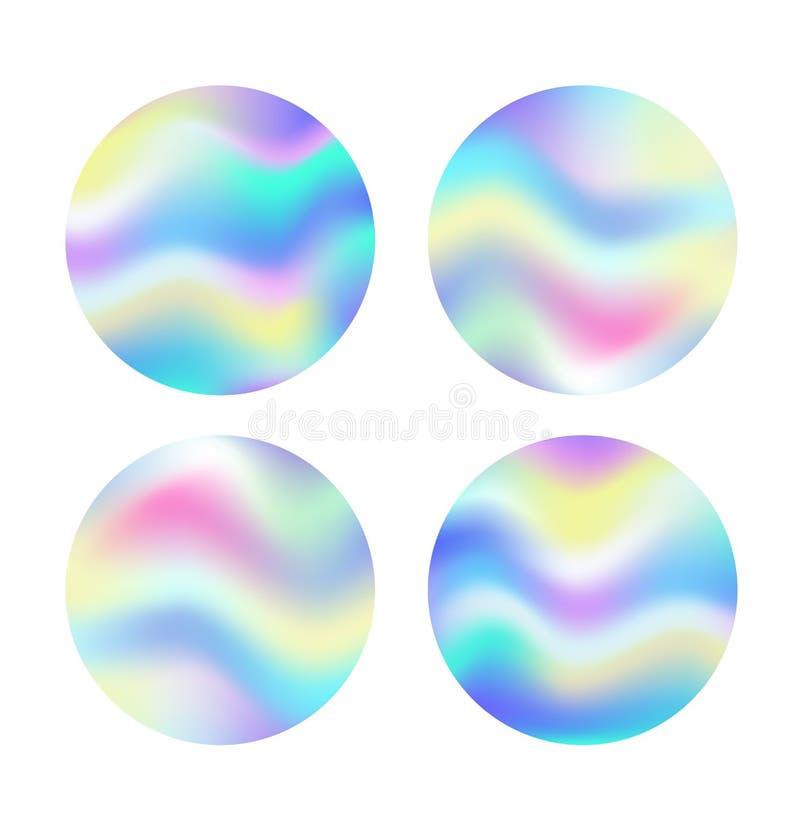 Glühen-Hintergrundkreis des feenhaften Raumes magischer mit Regenbogenmasche Mehrfarbenuniversumfahne in Prinzessinfarbe stock abbildung