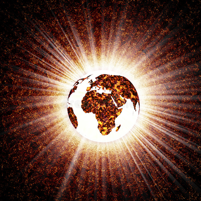 Glühende Erde stock abbildung