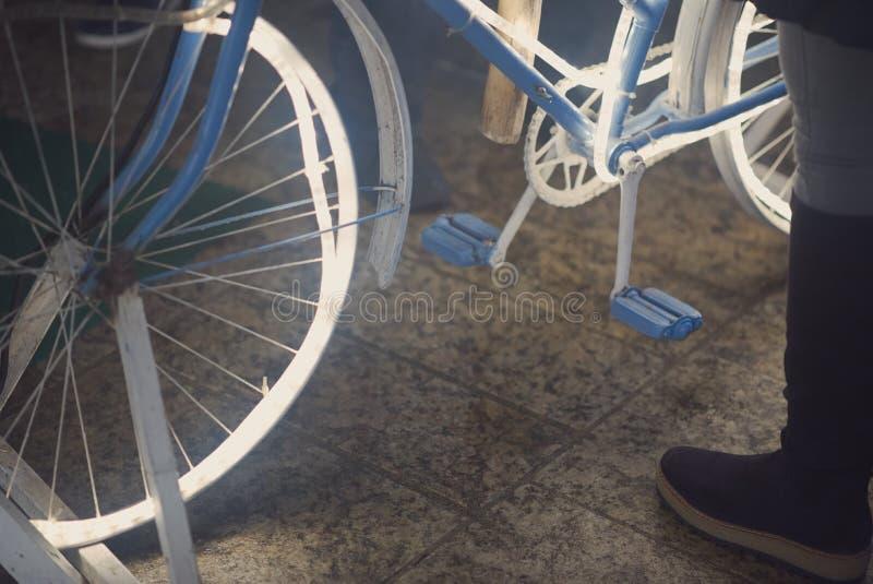 Glühende Fahrrad-Nahaufnahme stockfotografie