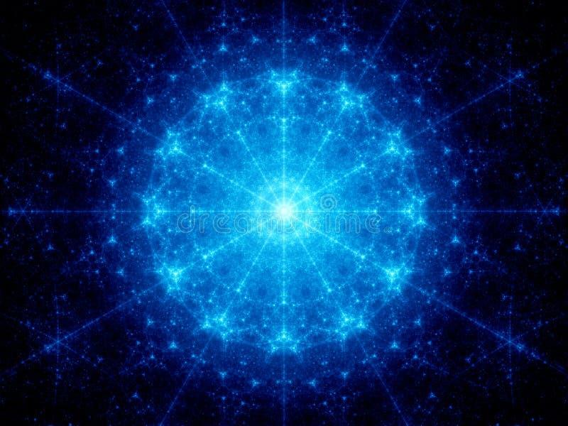Glühende galaktische Uhr des Blaus vektor abbildung
