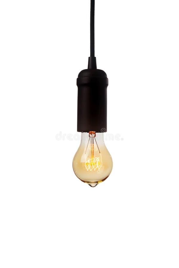 Glühende Glühlampe der Weinlese lizenzfreies stockfoto