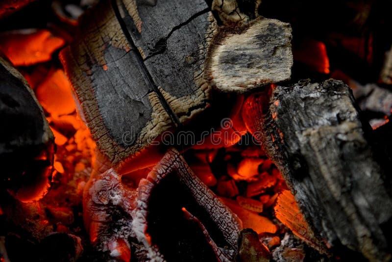 Glühende Kohle stockfotos