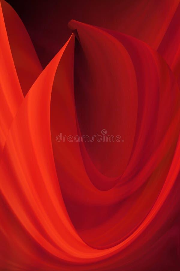 Glühende Kurven stockbild
