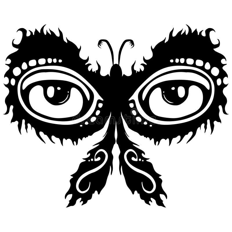 Glühende Motten-Tätowierung-Auslegung lizenzfreie abbildung