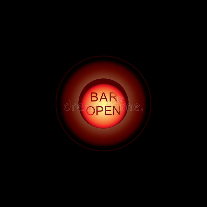 Glühende Stangenleuchtreklamen lokalisiert auf transparentem Hintergrund Glänzender und glühender Neoneffekt Jedes Zeichen ist un stock abbildung