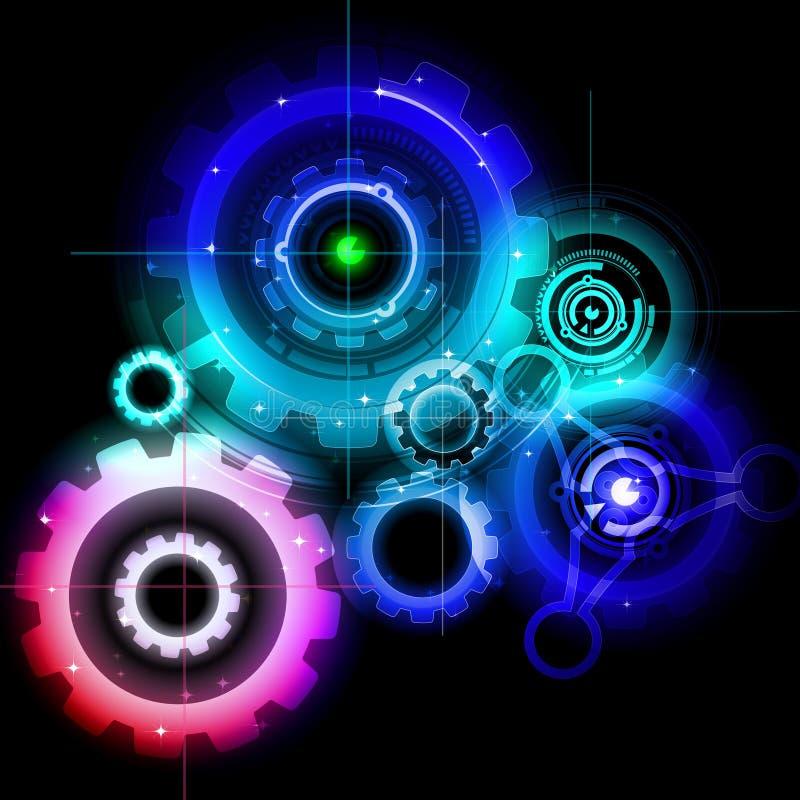Glühende Techno Gänge vektor abbildung